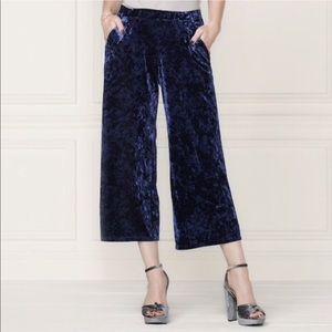 LC Lauren Conrad velvet cropped pants Medium